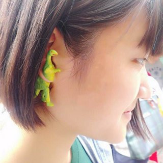 Taiwan's original Double M Magic Dinosaur earrings - Dinosaurs articles