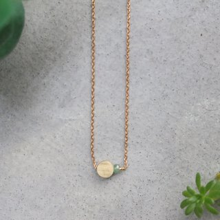 Emerald brass necklace 0684 two kinds of round