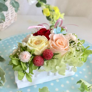 Masako Cream Strawberry Cake Eternal Flower Gift Gift (Transparent Box)