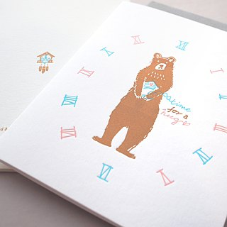 Bear Hug - Letterpress Love Card