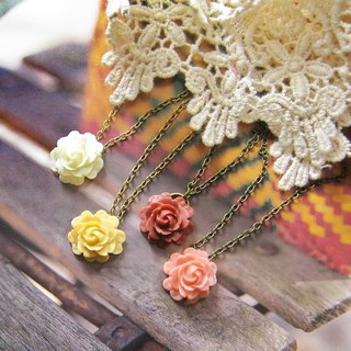 16mm small roses chain / necklace (4 color optional)