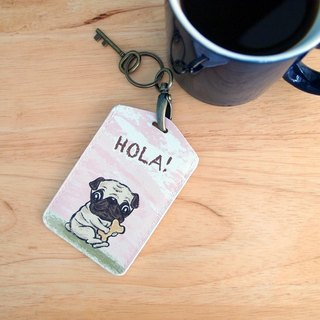 Multifunction card sleeve key ring -Hola! Tobago