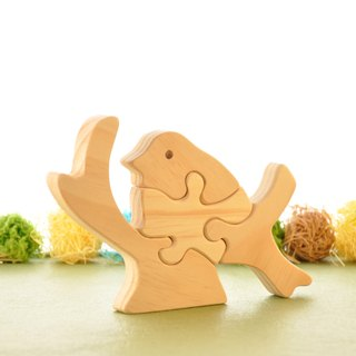 Wooden puzzle - variety of shapes