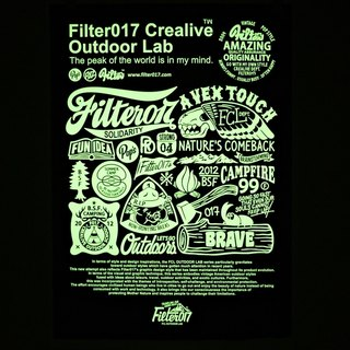 Filter017 FCL OUTDOOR LAB Screen Printing Poster Limited hand-cut screen photo luminous special edition black and white