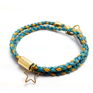 Love summer stars - classic double winding. ◆ Sugar Nok ◆ Wax Brass bracelet