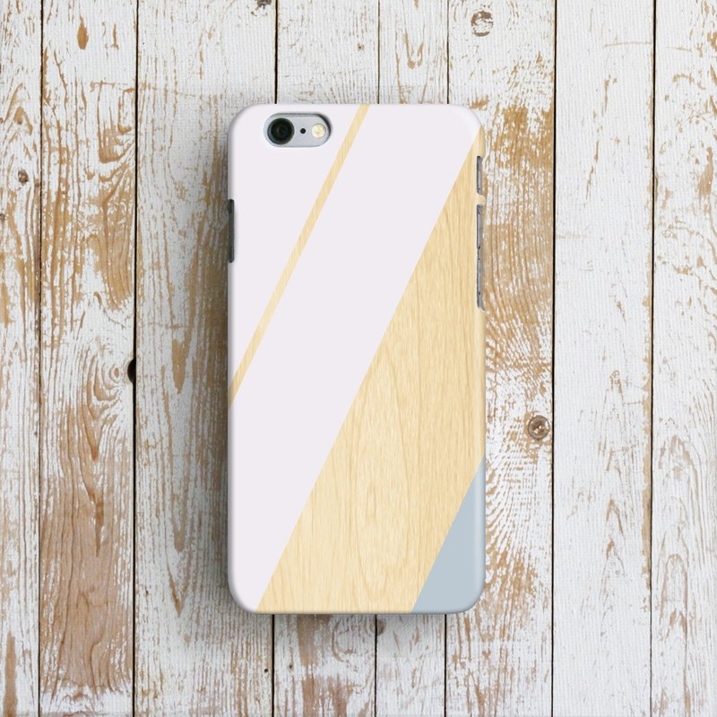 White Stripes, Wood - Designer iPhone Case. Pattern iPhone Case. One Little Forest