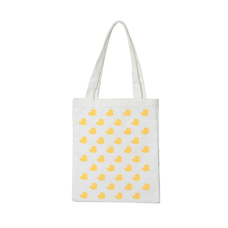Florentijn Hofmang authorized to produce environmentally friendly canvas bag containing a yellow duckling shipped free email