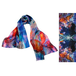 All the memories are Trace of Tears long silk scarf