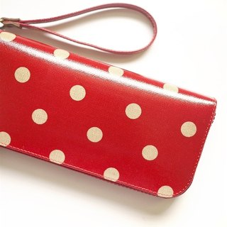Classic red water jade. Waterproof long clip / wallet / purse / purse