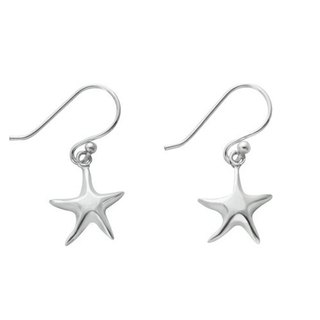 Ocean Star Silver ear hook earrings