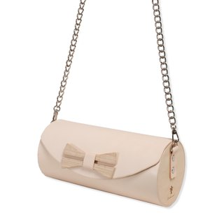 Wooden Cylinder Bag / Wooden Bag / Cross body bag