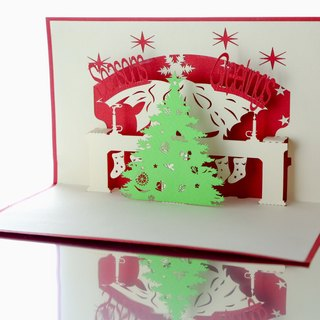 3D three-dimensional Christmas cards