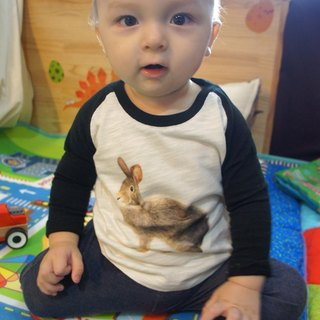Taiwan Hare Long Sleeve Tee (Children - Male Rabbit)