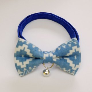 [Miya ko.] Handmade cloth grocery cats and dogs tie / tweeted / bow / folk style / pet collars