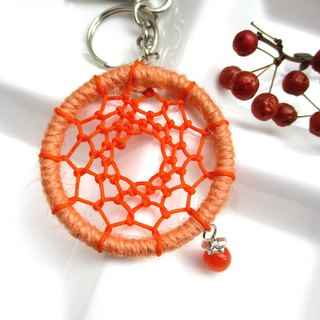 Little Kite - Dream Catcher Keyring - Orange