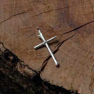 925 silver hand-made wooden cross pendant