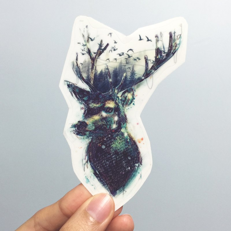 鹿 透明貼紙 (Deer Sticker)