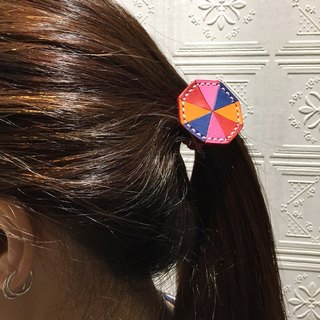 Collage handmade leather tresses hair accessories hair ring ·
