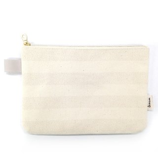 canvas stripes Slim pouch