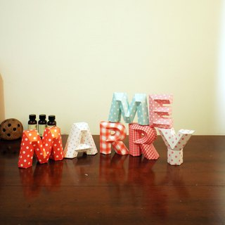 Wedding Decoration / wedding props / MARRY ME / three-dimensional character / small section
