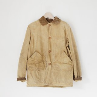 A ROOM MODEL - VINTAGE, CJ-2219 AMERICAN FIELD HETTRIC khaki safari jacket with retro Shimokitazawa