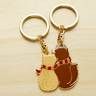 """Custom Birthday / Valentine / Christmas / cat / dog"" Perfect Together Keychain - cat and dog ""custom lettering mine service"""