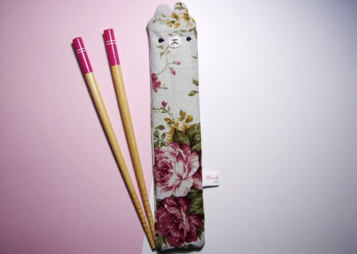 "Cheerful. ""Portable chopsticks set / green chopsticks / chopsticks / tableware"" Huadu Hong Chung"