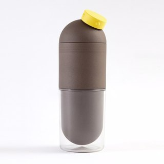 Ecojun Public Capsule Time Capsule Model Eco-friendly Material Accompanying Kettle Brown