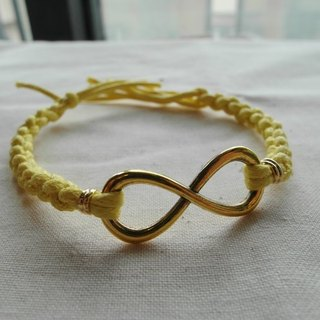~ M + Bear ~ Love Unlimited Love Unlimited, 8 wax rope braided bracelet (golden)