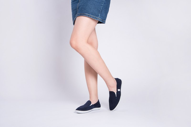 LOAFER Classic Navy  ULTRASUEDE and Eco-friendly shoes for WOMEN