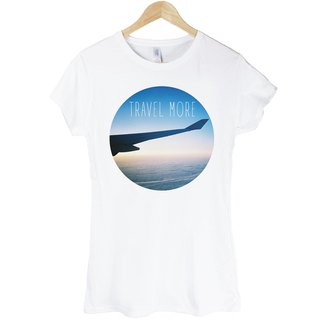 TRAVEL MORE girls short-sleeved T-shirt - white more travel photographs LOMO Young Life Wen Qing own brand stylish fashion design