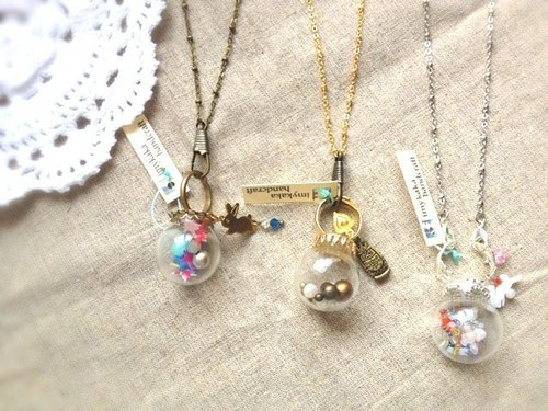 [Imykaka] dream crystal ball - ring + necklace / dual valentines