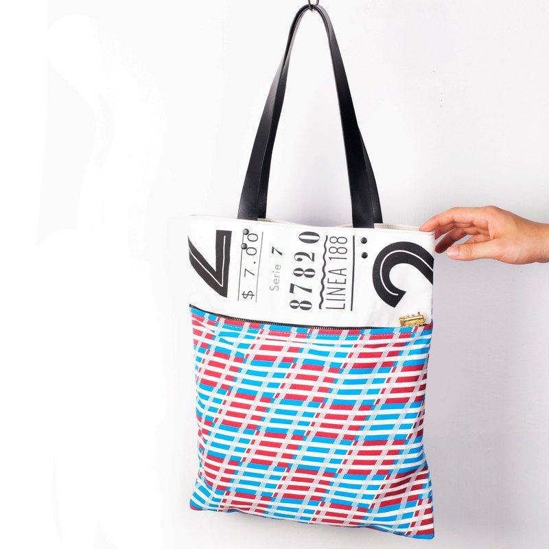 MOTIVE Tote Bag (TRACK) 火車主題 真皮托特包 帆布袋「記憶像是路軌」