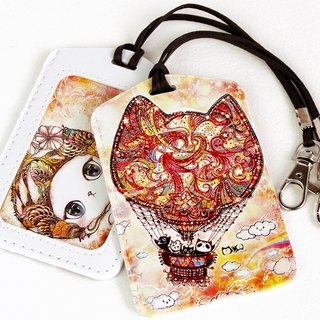 Good Universal Card Holder - Cat Hot Air Balloon