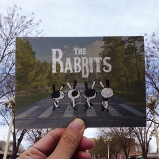 Design postcard | the rabbits rabbit Beatles