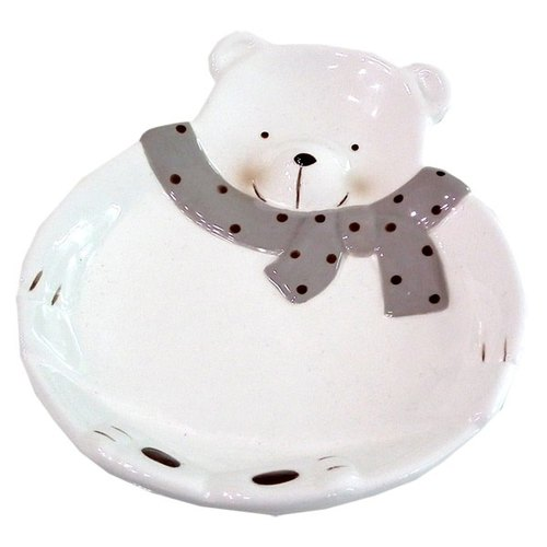 [] Fat bear BEAR BOY ceramic salad bowl -L