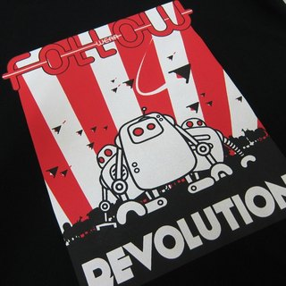 [Followwear] Revolution good Machgy robotic T-shirt black male / female