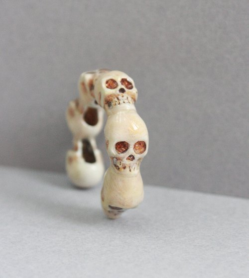 Full Skulls Hand-Painted Color Version Ring / Jewelry