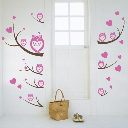 Smart Design Creative ◆ Seamless owl wall stickers
