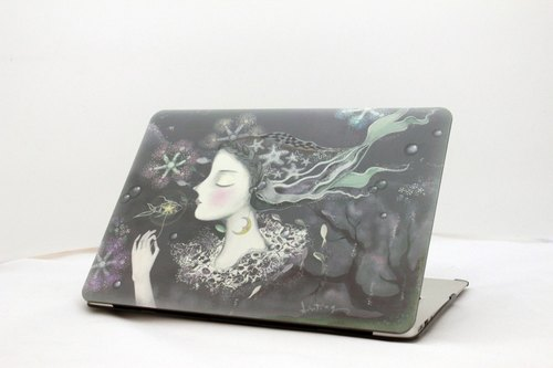 "Listen Love Series - a soft spot -tinting Lin Wenting ""Macbook Pro 15.4-inch special"" Crystal Case"