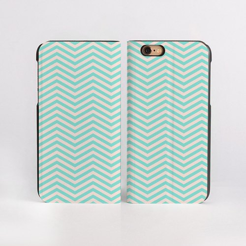 Light Sweet Chevron iPhone 6 / 6s painted leather
