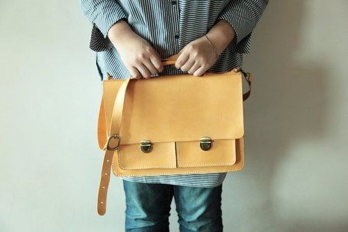 Hsu & Daughter double front pocket briefcase [HDA0001]