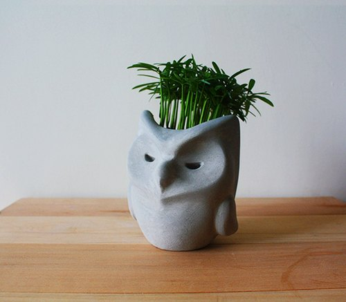 Courage Owl Pots