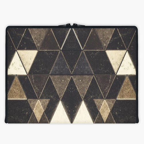 Axis - Custom 3-Sided Zipper Laptop Sleeve - Triangles XXVII