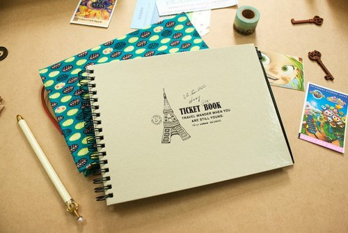 Travel Landscape - set ticket books for this hand (with zipper bag)