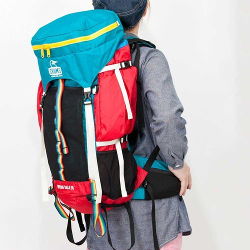 CHUMS Spring Dale 50L mountaineering backpack blue-green / pink (CH60-2067-T010)