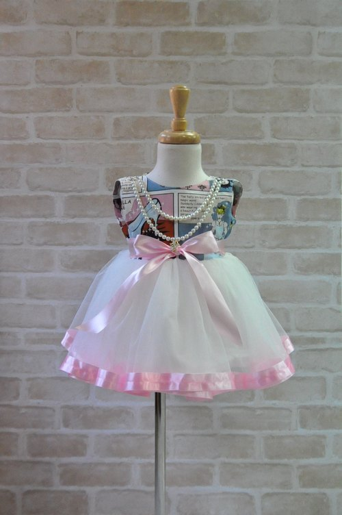Angel Nina hand made princess dress tutu dress cinderella Japanese natural organic cotton clothing with attached GOTS certification card