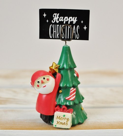 [Japan Decole] Christmas limited edition Christmas greetings card holder ★ Santa Claus and Christmas tree