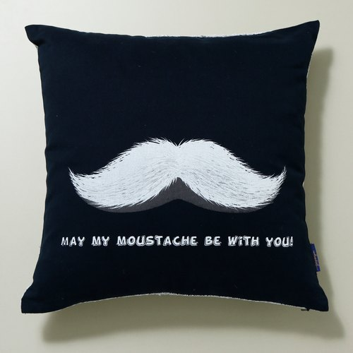 Christmas Limited ◎ ◎ [willing] beard with you hand-printed silk pillow cover