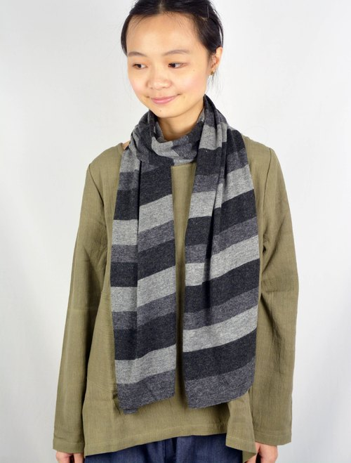 Dark gray cashmere scarves _ _ + ash + m Fair Trade